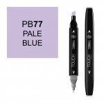Маркер TOUCH Twin PB77 Синий Бледный (Pale Blue) двухсторонний наспиртовой основе