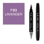 Маркер TOUCH Twin P83 Лавандовый (Lavender) двухсторонний наспиртовой основе