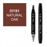 Маркер TOUCH Twin BR91 Дуб (Natural Oak) двухсторонний наспиртовой основе