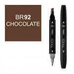Маркер TOUCH Twin BR92 Шоколадный (Chocolate) двухсторонний наспиртовой основе