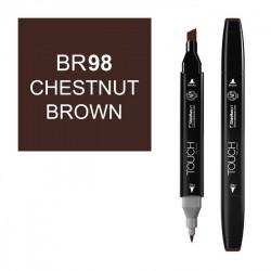 Маркер TOUCH Twin BR98 Коричневый Каштановый (Chestnut Brow) двухсторонний наспиртовой основе