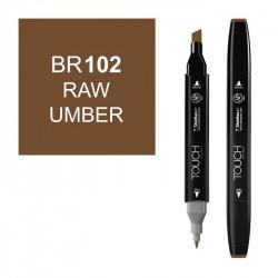 Маркер TOUCH Twin BR102 Умбра Натуральная (Raw Umber) двухсторонний наспиртовой основе