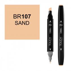 Маркер TOUCH Twin BR107 Песочный (Sand Sable) двухсторонний наспиртовой основе