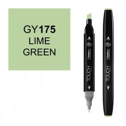 Маркер TOUCH Twin GY175 Зеленый Лайм (Lime Green) двухсторонний наспиртовой основе