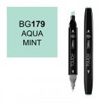 Маркер TOUCH Twin BG179 Сине-Зеленый Мятный (Aqua Mint) двухсторонний наспиртовой основе