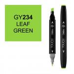 Маркер TOUCH Twin GY234 Зеленая Листва (Leaf Green) двухсторонний наспиртовой основе