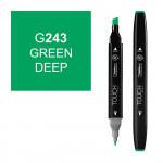 Маркер TOUCH Twin G243 Зеленый Насыщенный (Green Deep) двухсторонний наспиртовой основе