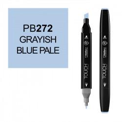 Маркер TOUCH Twin PB272 Серо-Синий Бледный (Grayish Blue Pale) двухсторонний наспиртовой основе