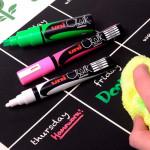 Маркер меловой Uni Chalk 17K 15мм клиновидный