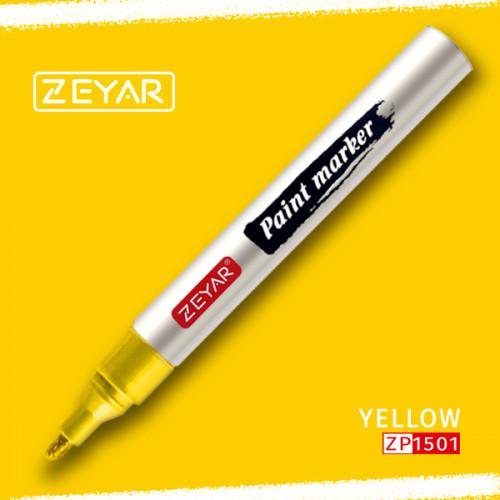 Маркер Zeyar Paint marker масляный Желтый (Yelow) 2,5 мм
