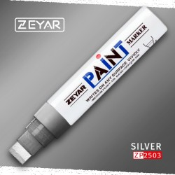 Маркер Zeyar Paint marker масляный Серебро (Silver), 15 мм