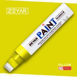 Маркер Zeyar Paint marker масляный Желтый (Yellow), 15 мм