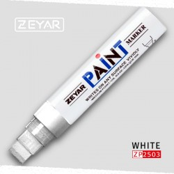 Маркер Zeyar Paint marker масляный Белый (White), 15 мм