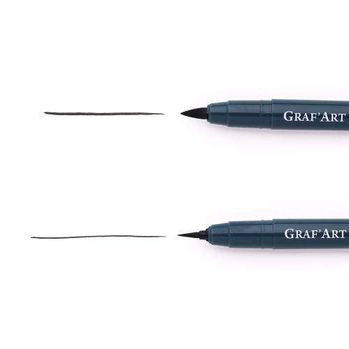 Капиллярная ручка Малевичъ GrafArt, кисть толстая L