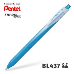 Гелевая ручка линер Pentel EnerGel Wave BL437-S Синий