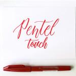 Линер-кисть Pentel Brush Sign Pen, красный