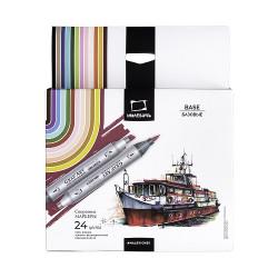 Набор спиртовых маркеров Малевичъ GrafArt Brush, Базовый 24 цвета