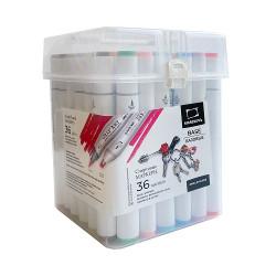 Набор спиртовых маркеров Малевичъ GrafArt Brush, Базовый 36 цветов