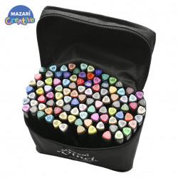 Набор маркеров для скетчинга VINCI black 100 цветов в сумке