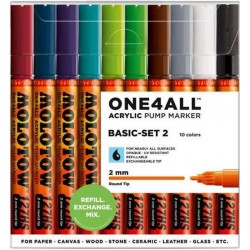 Набор маркеров Molotow One4all 127HS Basic Set 2 10 цветов