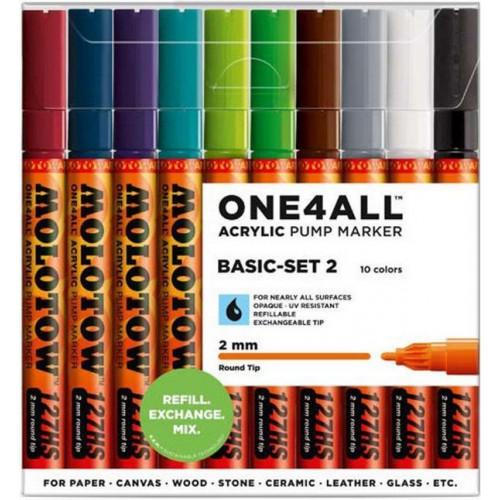 Набор маркеров Molotow One4all 127HS Basic Set 2 10 цветов