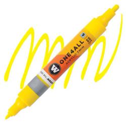 Маркер акриловый Molotow One4All 227HS-CO Twin (006) Желтый (Zinc yellow) 1,5-4 мм