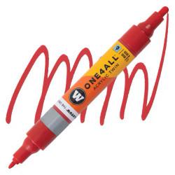 Маркер акриловый Molotow One4All 227HS-CO Twin (013) Красный (Traffic red) 1,5-4 мм