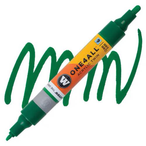 Маркер акриловый Molotow One4All 227HS-CO Twin (096) Мистер зеленый (Mr. green) 1,5-4 мм