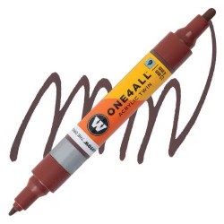 Маркер акриловый Molotow One4All 227HS-CO Twin (092) Коричневый орех (Hazelnut brown) 1,5-4 мм