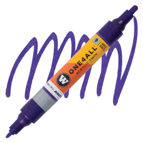 Маркер акриловый Molotow One4All 227HS-CO Twin (043) Темно-фиолетовый (Violet dark) 1,5-4 мм