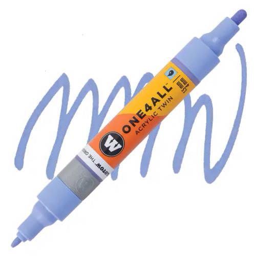 Маркер акриловый Molotow One4All 227HS-CO Twin (209) Сине-фиолетовый (Blue violet pastel) 1,5-4 мм