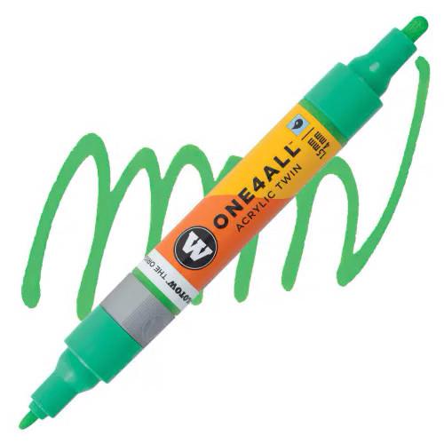 Маркер акриловый Molotow One4All 227HS-CO Twin (222) Зеленый (Kacao77 green) 1,5-4 мм