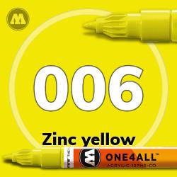 Маркер акриловый Molotow 006 Желтый (Zinc yellow) 1.5 мм