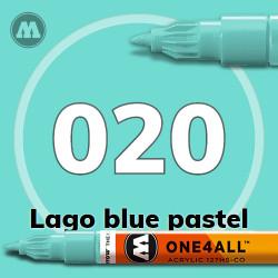 Маркер акриловый Molotow 020 Сине-зеленый (Lago blue pastel) 1.5 мм
