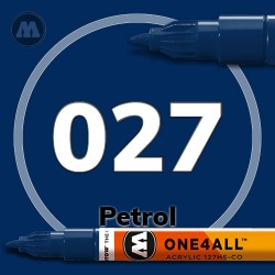 Маркер акриловый Molotow 027 Темно-синий (Petrol) 1.5 мм