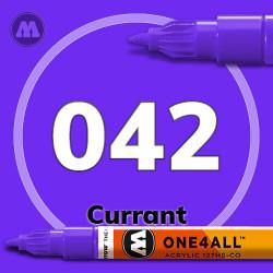 Маркер акриловый Molotow 042 Фиолетовый (Currant) 1.5 мм