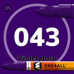 Маркер акриловый Molotow 043 Темно-фиолетовый (Violet dark) 1.5 мм