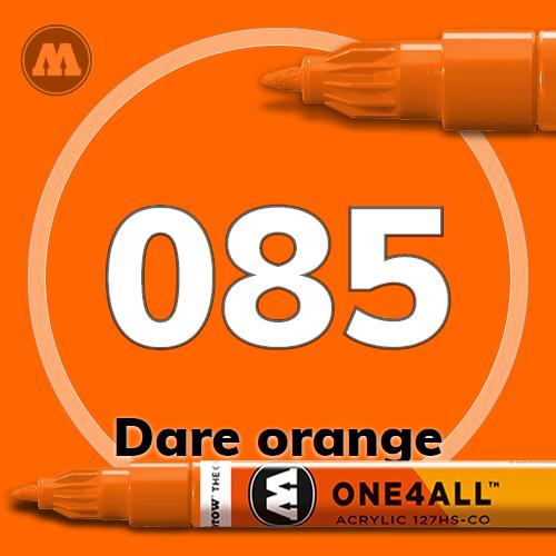 Маркер акриловый Molotow 085 Оранжевый (Dare orange) 1.5 мм