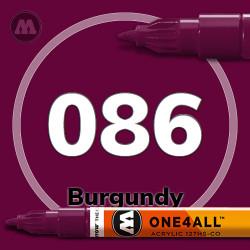 Маркер акриловый Molotow 086 Бордовый (Burgundy) 1.5 мм