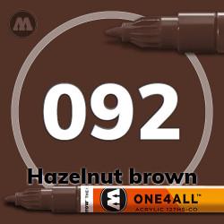 Маркер акриловый Molotow 092 Коричневый орех (Hazelnut brown) 1.5 мм