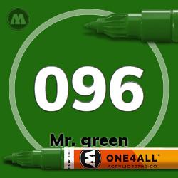 Маркер акриловый Molotow 096 Мистер зеленый (Mr. green) 1.5 мм