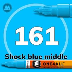 Маркер акриловый Molotow 161 Голубой (Shock blue middle) 1.5 мм