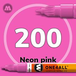 Маркер акриловый Molotow 200 Розовый (Neon pink) 1.5 мм