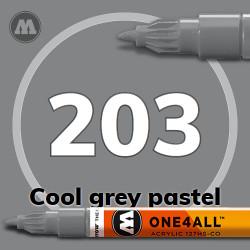 Маркер акриловый Molotow 203 Серый (Cool grey pastel) 1.5 мм