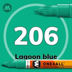 Маркер акриловый Molotow 206 Голубая лагуна (Lagoon blue) 1.5 мм
