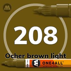 Маркер акриловый Molotow 208 Коричневый (Ocher brown light) 1.5 мм