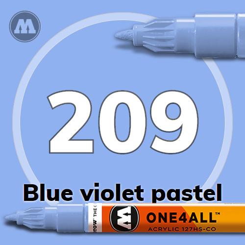 Маркер акриловый Molotow 209 Сине-фиолетовый (Blue violet pastel) 1.5 мм
