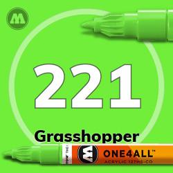 Маркер акриловый Molotow 221 Светло-зеленый (Grasshopper) 1.5 мм
