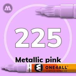 Маркер акриловый Molotow 225 Металлик розовый (Metallic pink) 1.5 мм