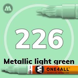 Маркер акриловый Molotow 226 Металлик зеленый (Metallic light green) 1.5 мм